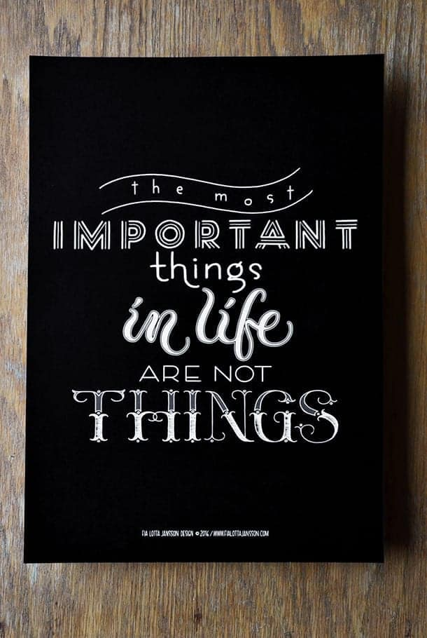 what are most important things in life