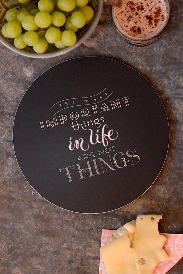 Andrasortering: Grytunderlägg av Fia-Lotta Jansson: The most important things in life