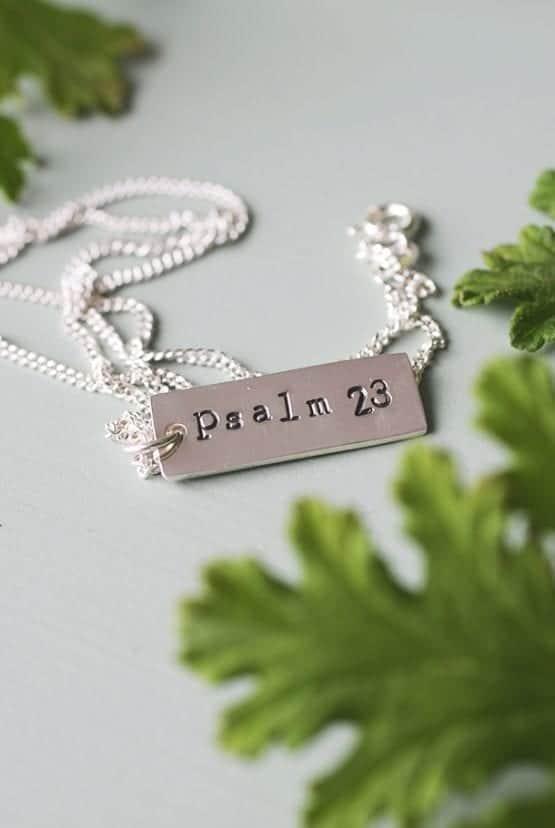 Handtillverkat smycke: Psalm 23