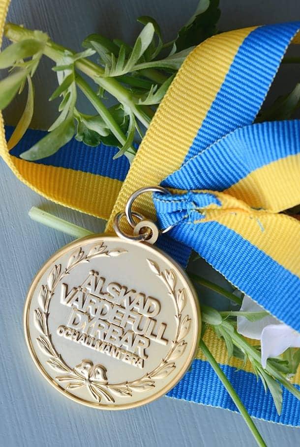 Medalj: Älskad, värdefull, dyrbar. Och allmänt bra!