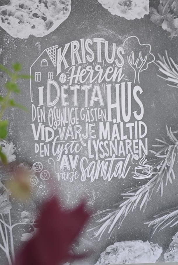 Poster: Kristus är Herren i detta hus