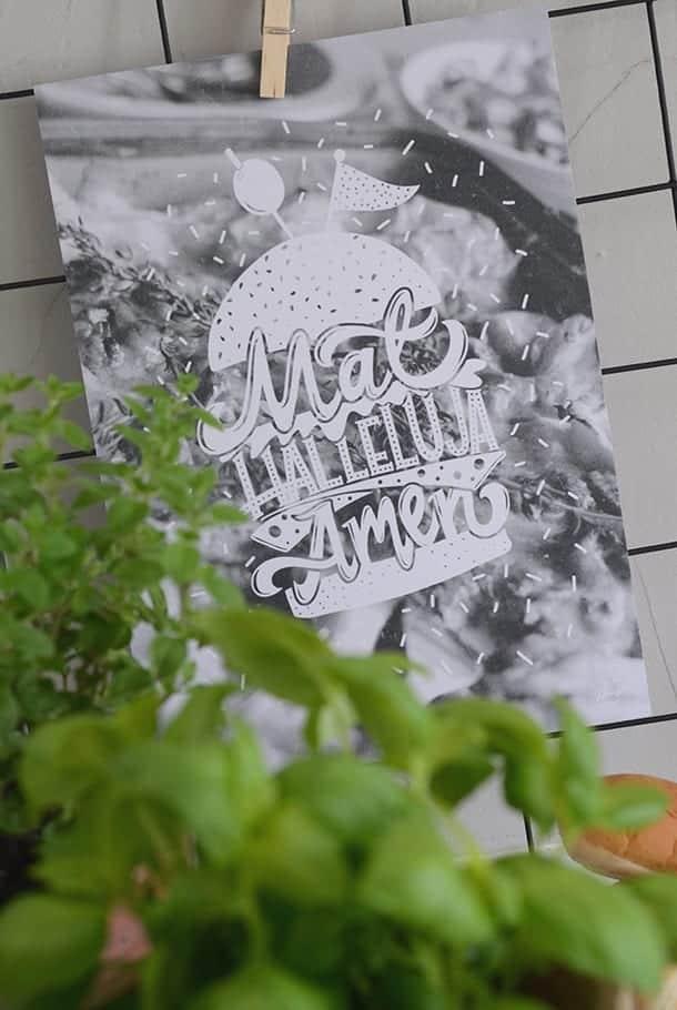 Poster: Mat halleluja, amen