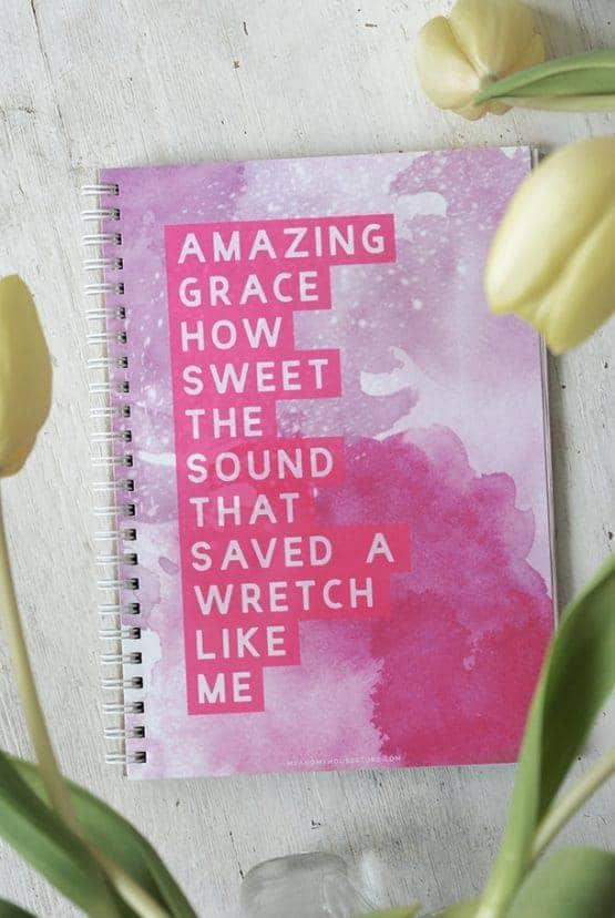 Linjerat block Amazing Grace