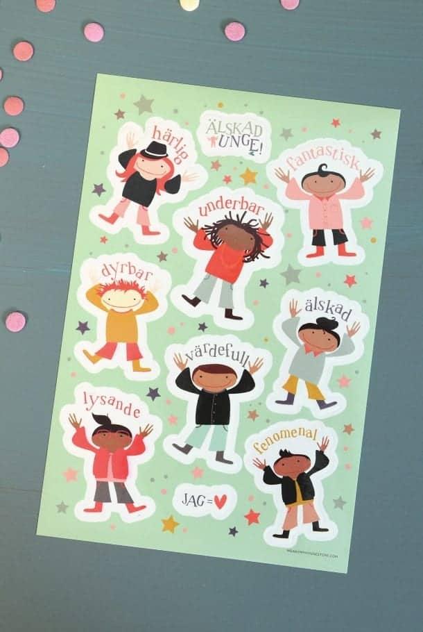Klistermärkesark: Älskade unge!