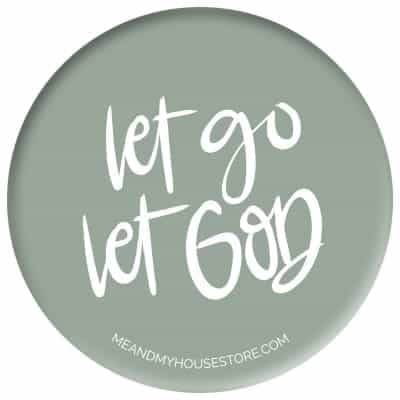 Knapp: Let go, let God