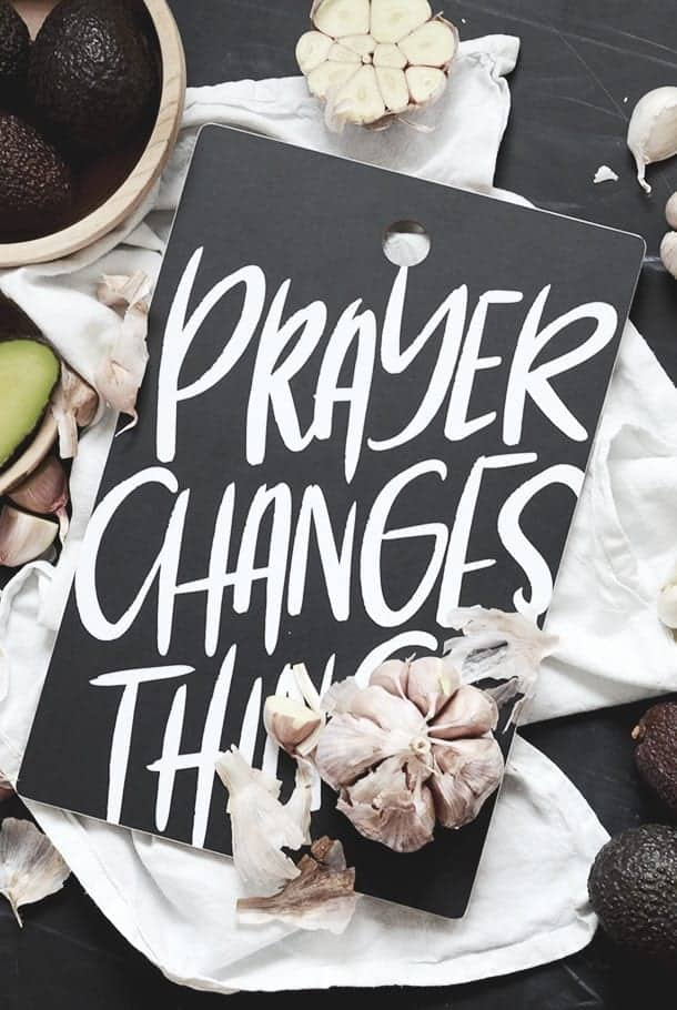 Skärbräda: Prayer changes things