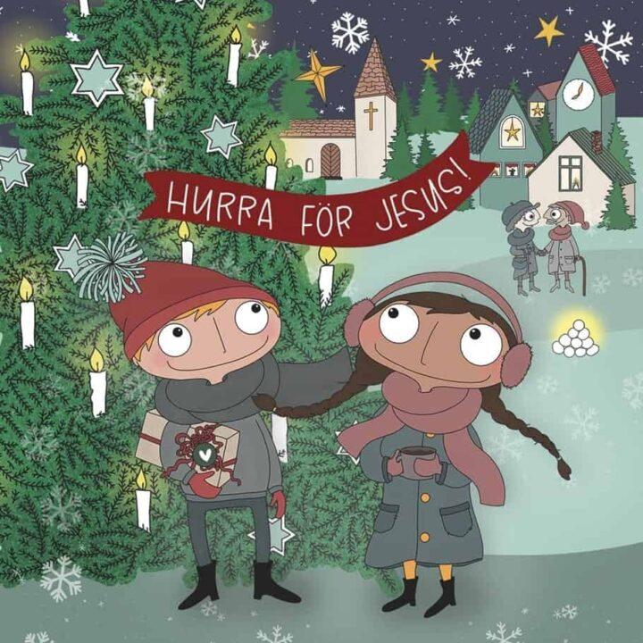 Julkort: Hurra för Jesus!