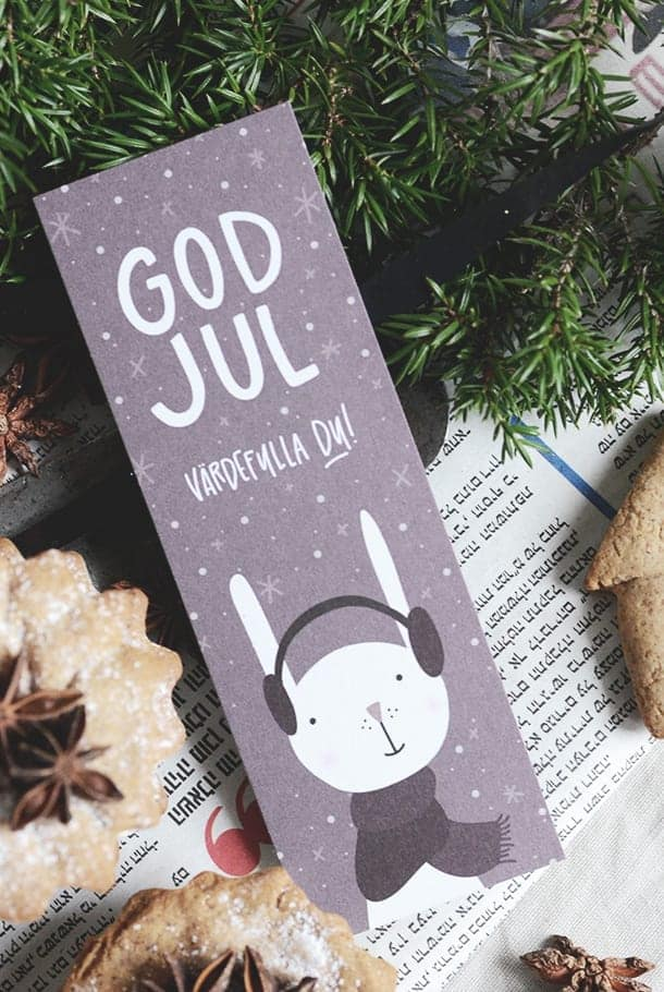 Julkort: God jul underbara du!