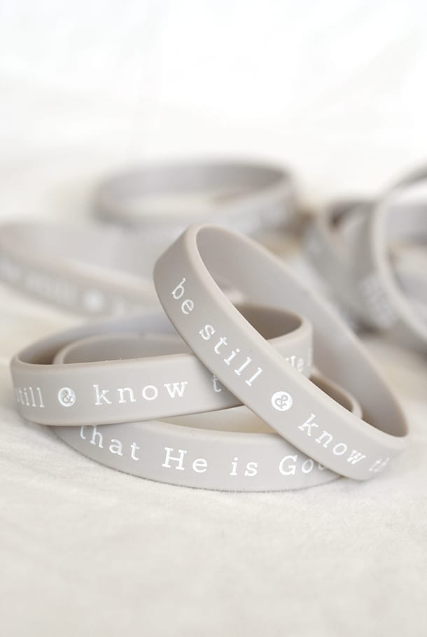 Be still and know that He is God