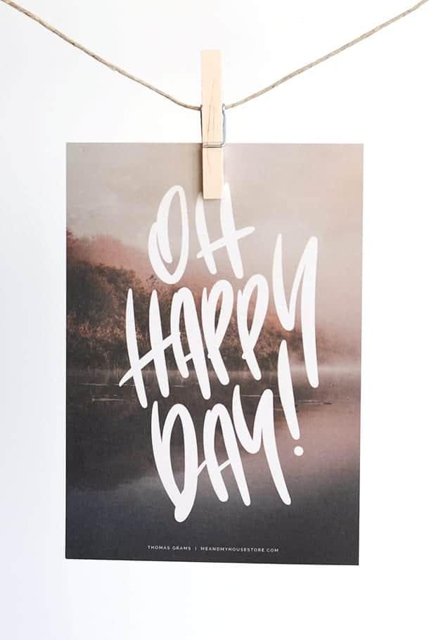 Stort kort: Oh Happy Day