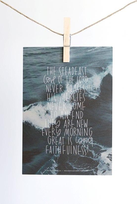 Stort kort: Your steadfast love