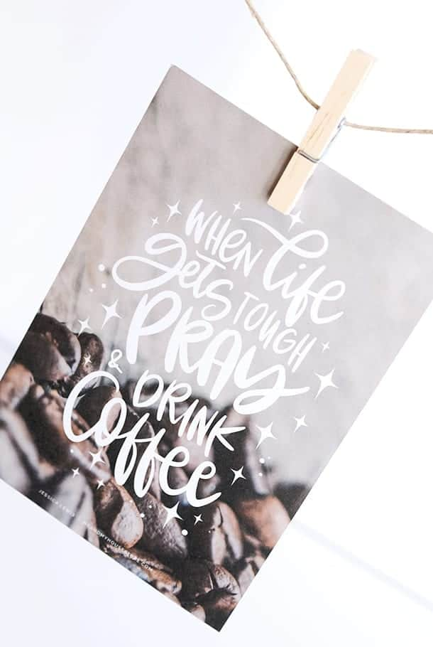 Stort kort: When life gets tough pray and drink coffee