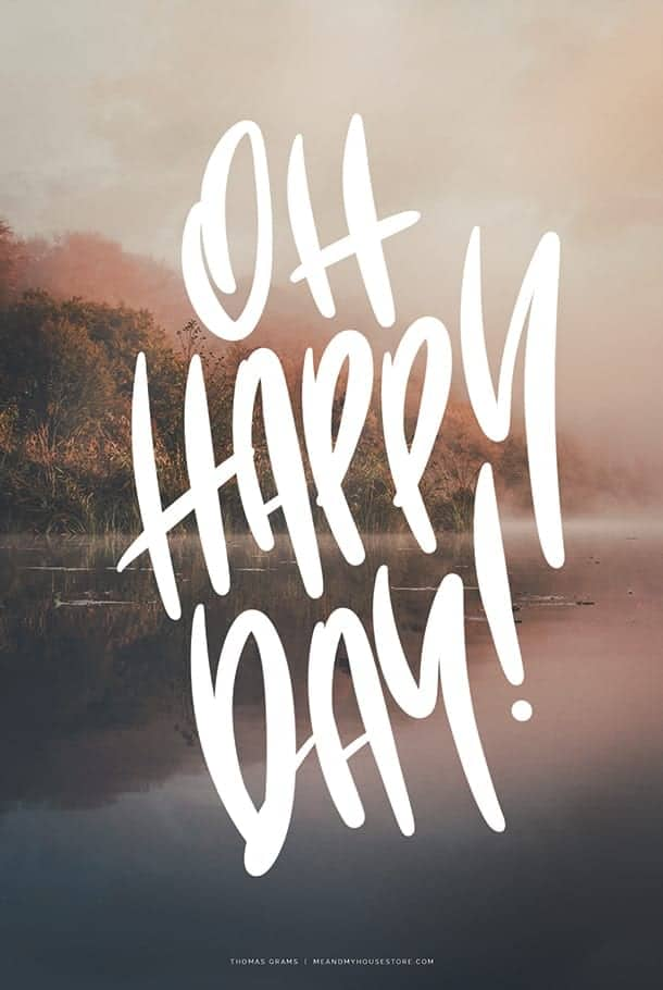 A3-poster: Oh Happy Day