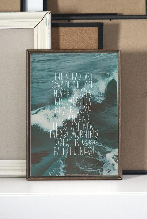 A3-poster: Your steadfast love