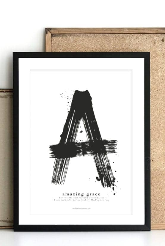 Poster med stort A: Amazing Grace