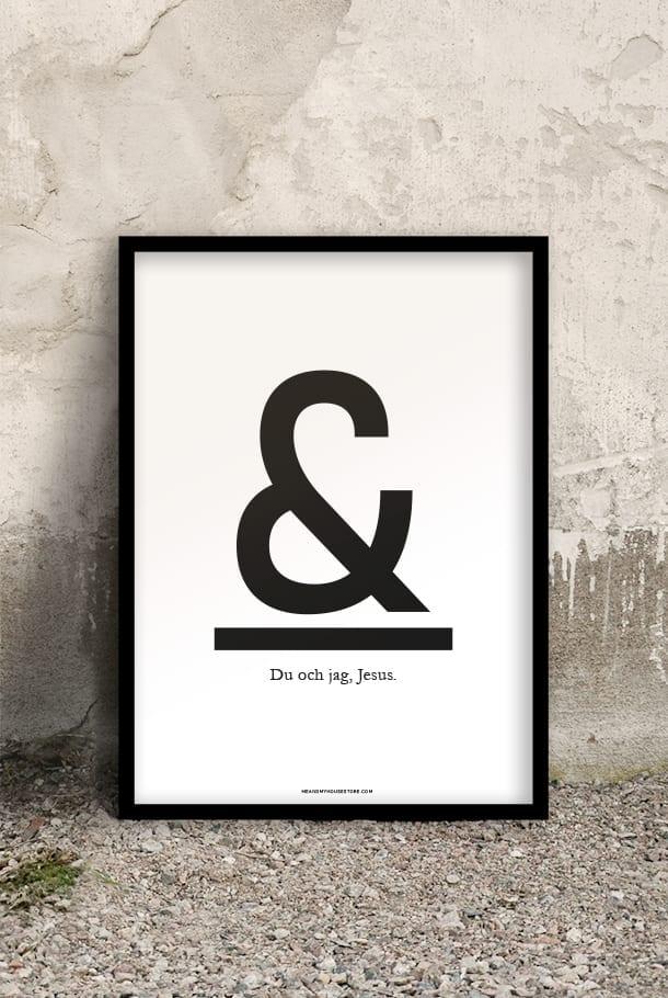 50x70-poster: Du & jag, Jesus