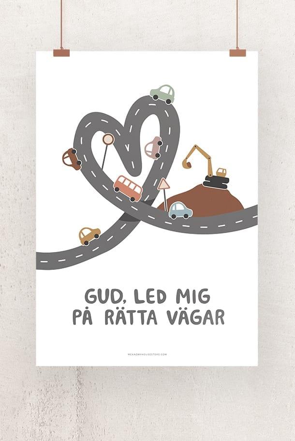 50x70-poster: Gud, led mig på rätta vägar
