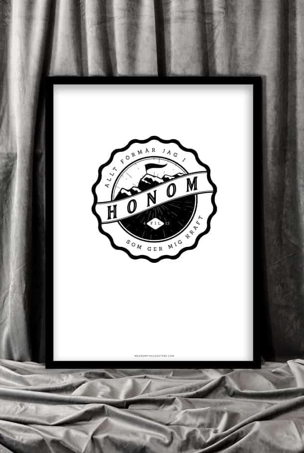 50x70-poster: Allt förmår jag i Honom som ger mig kraft