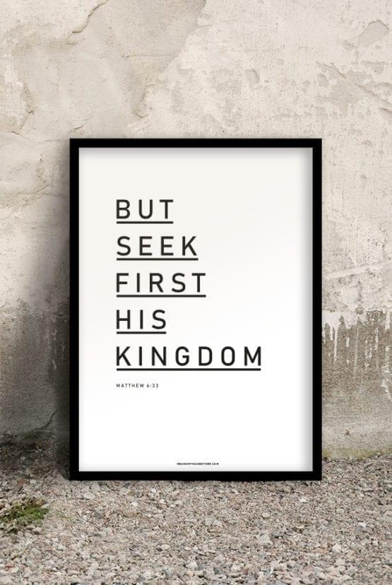50x70-poster: But seek first His kingdom