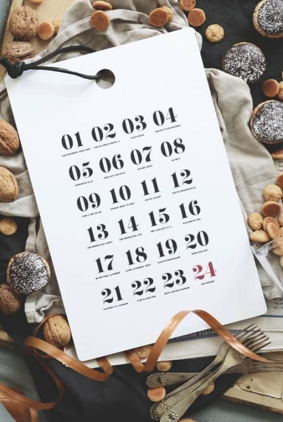 Skärbräda: Kalender