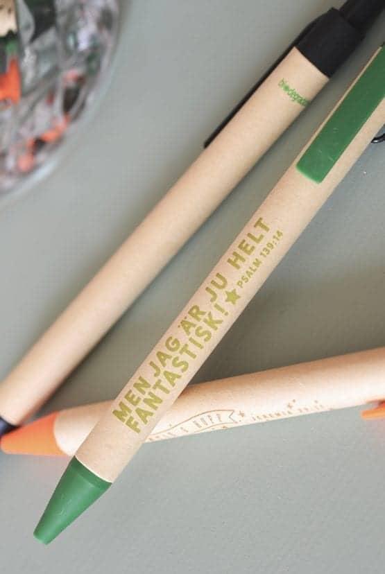 Grön eko-penna: Men jag är ju helt fantastisk!