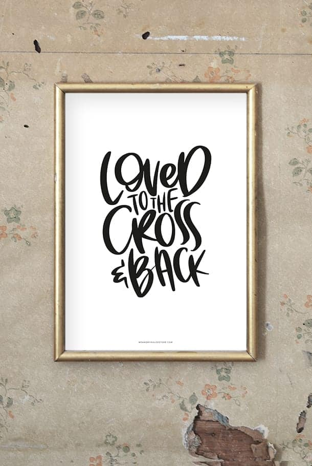Vit poster: Loved to the Cross and back