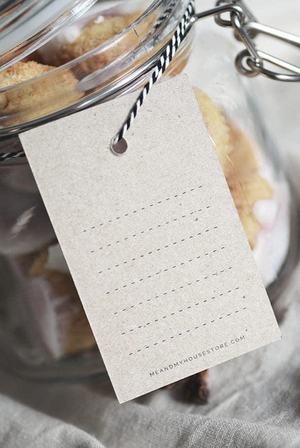 10-pack! Juletikett på kvistpapper: Fröjdas vart sinne