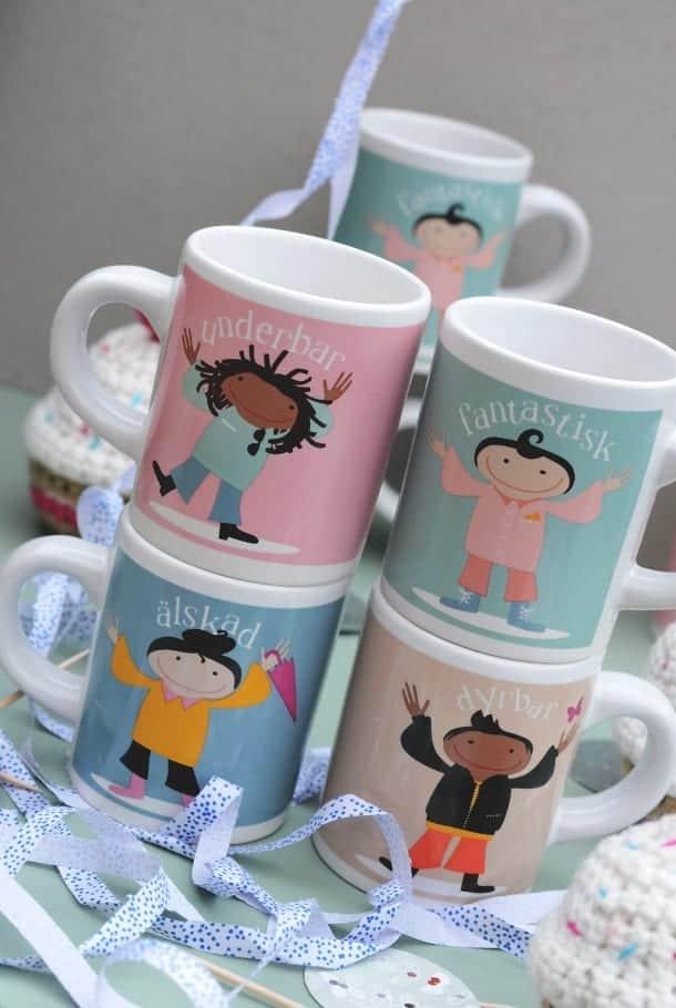 Barnmuggar i 4-pack: Älskade unge!