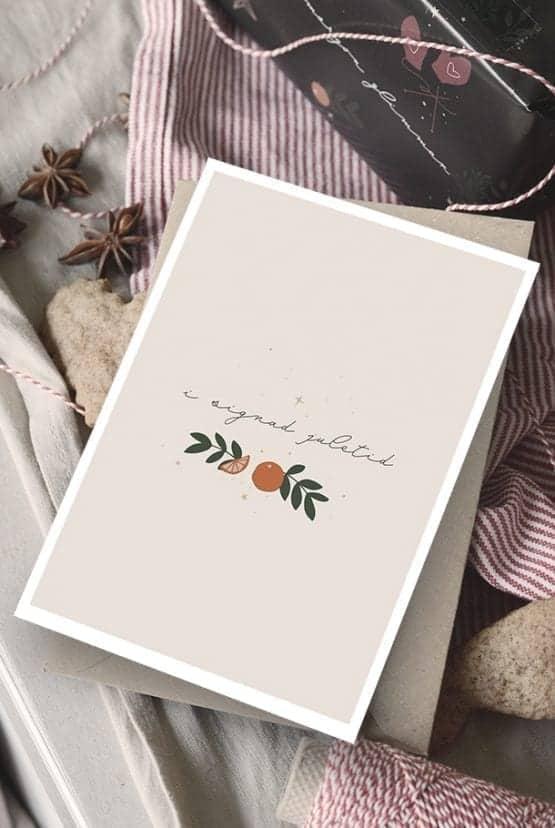Julkort med returpapperkuvert: I signad juletid