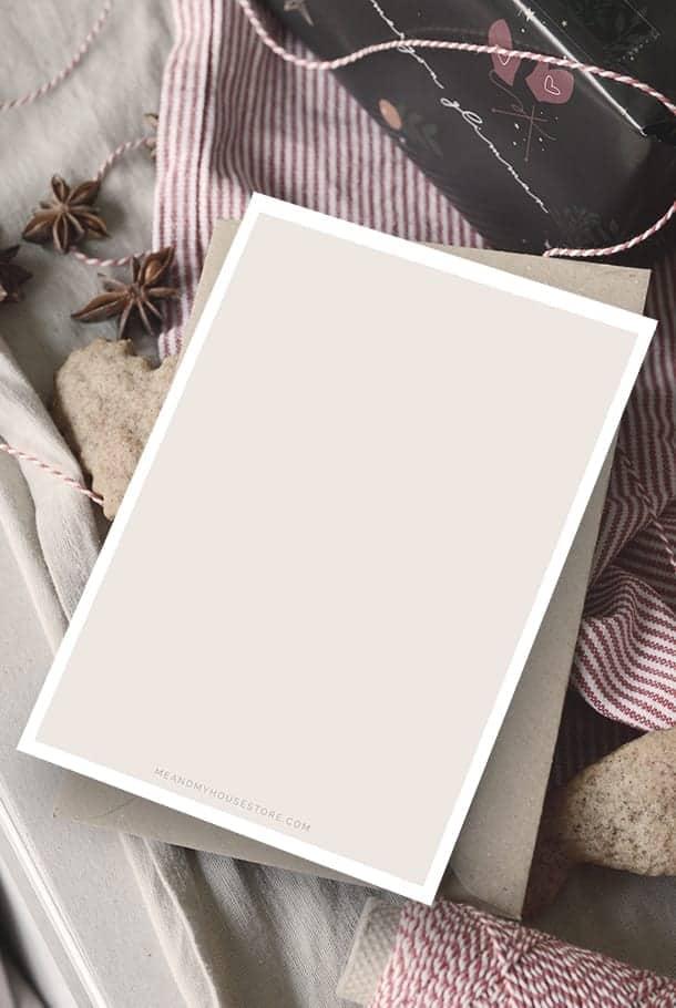 Julkort med returpapperkuvert: Ljus & frid