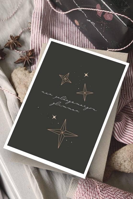 Julkort med returpapperkuvert: När juldagsmorgon glimmar