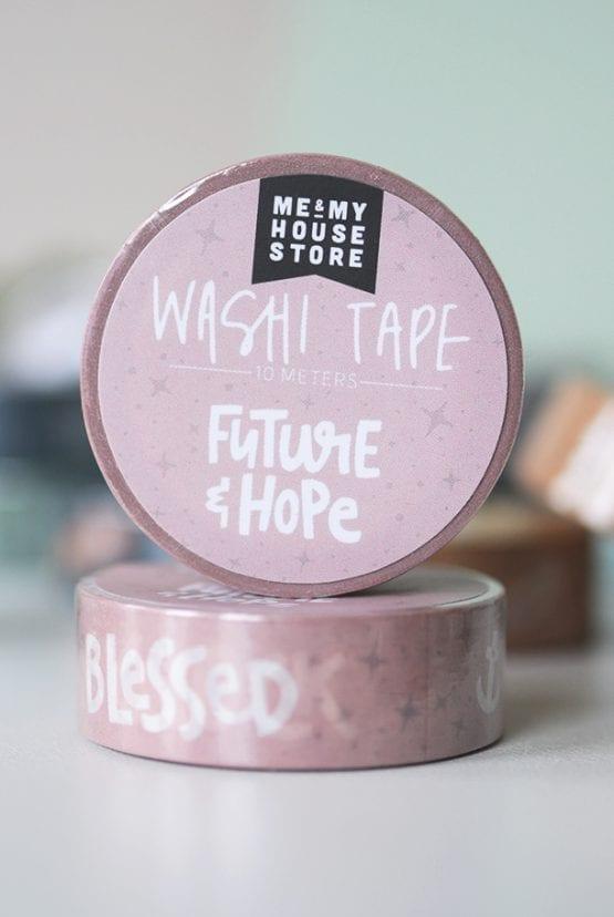 Rosa washitape: Future & hope