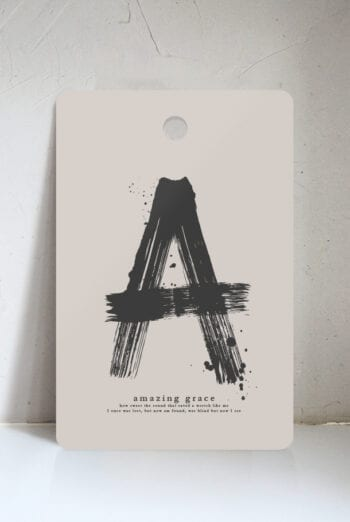 Skärbräda med läderrem: Amazing grace