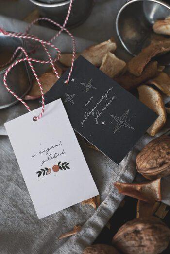 10-pack! Juletikett: När juldagsmorgon glimmar och I signad juletid